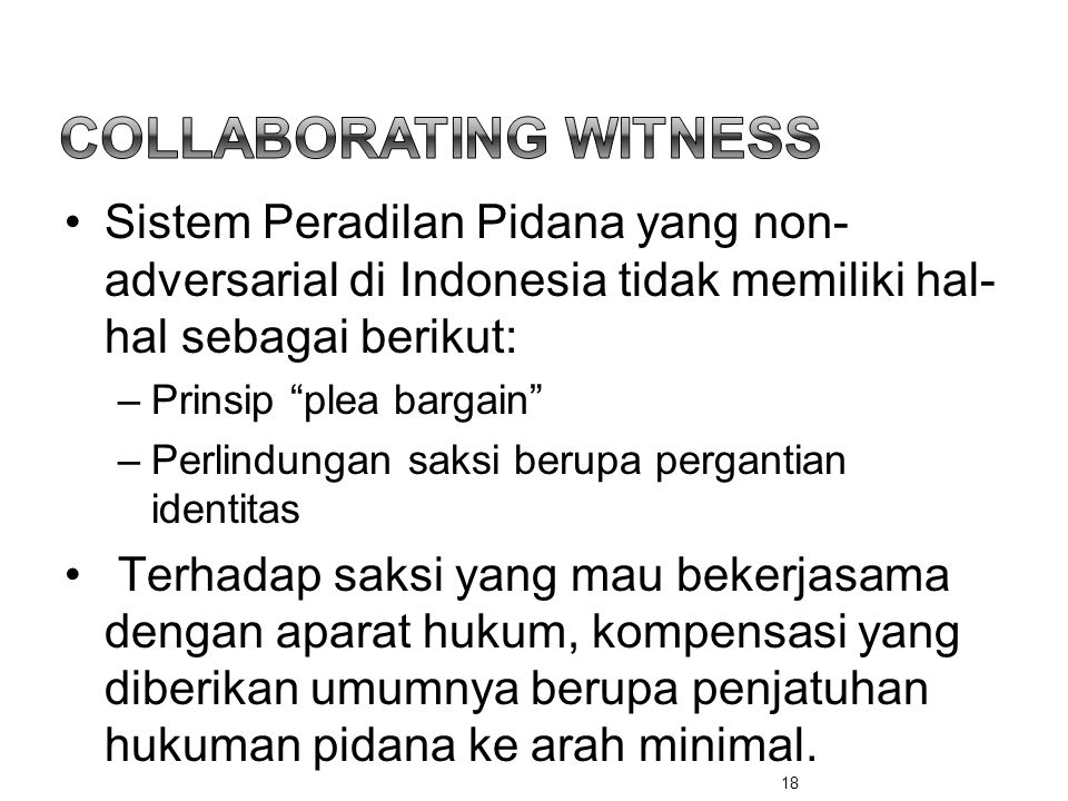 COLLABORATING WITNESS