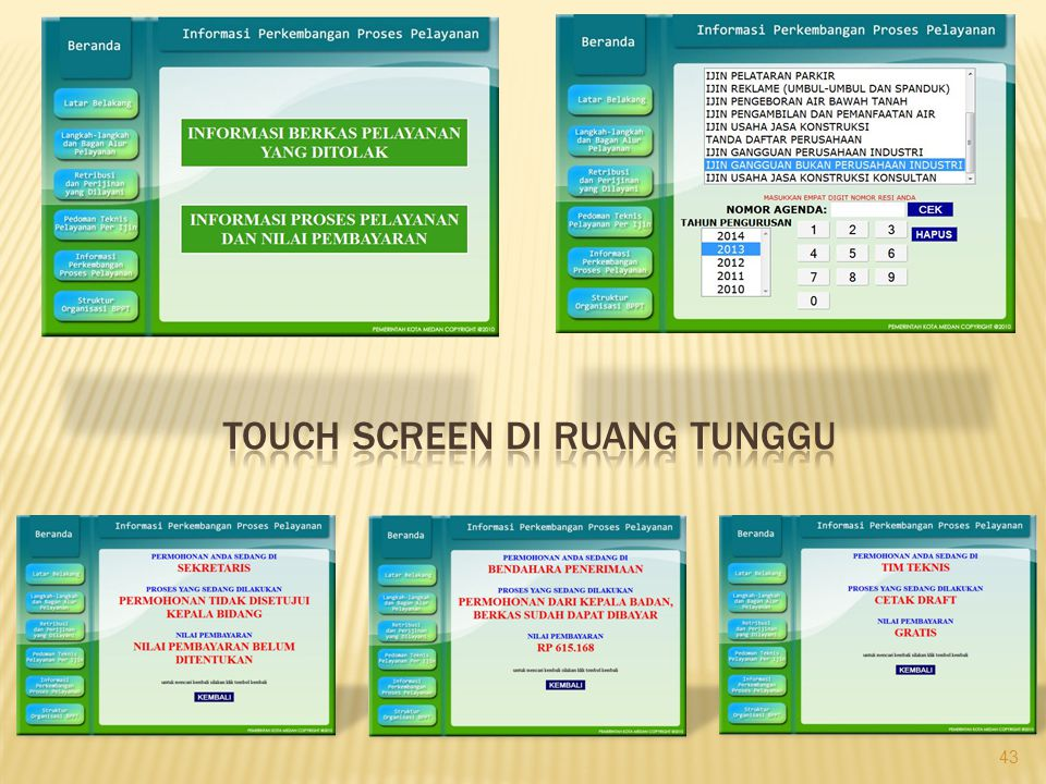 TOUCH SCREEN di RUANG TUNGGU