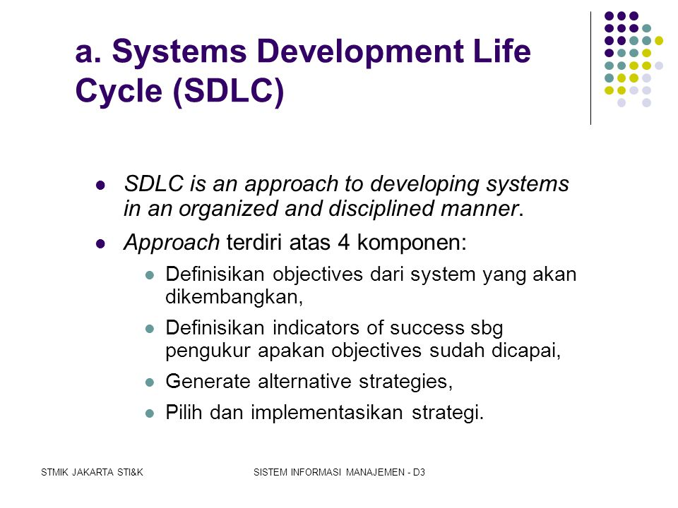 a. Systems Development Life Cycle (SDLC)