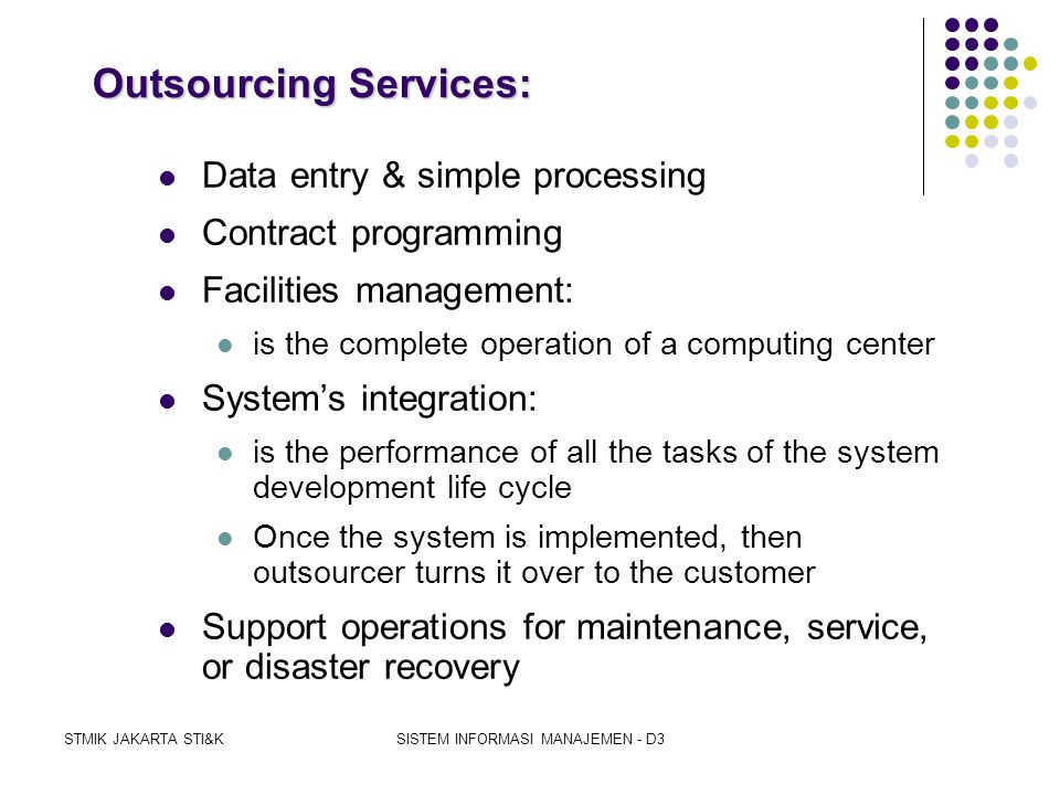 Outsourcing Services: