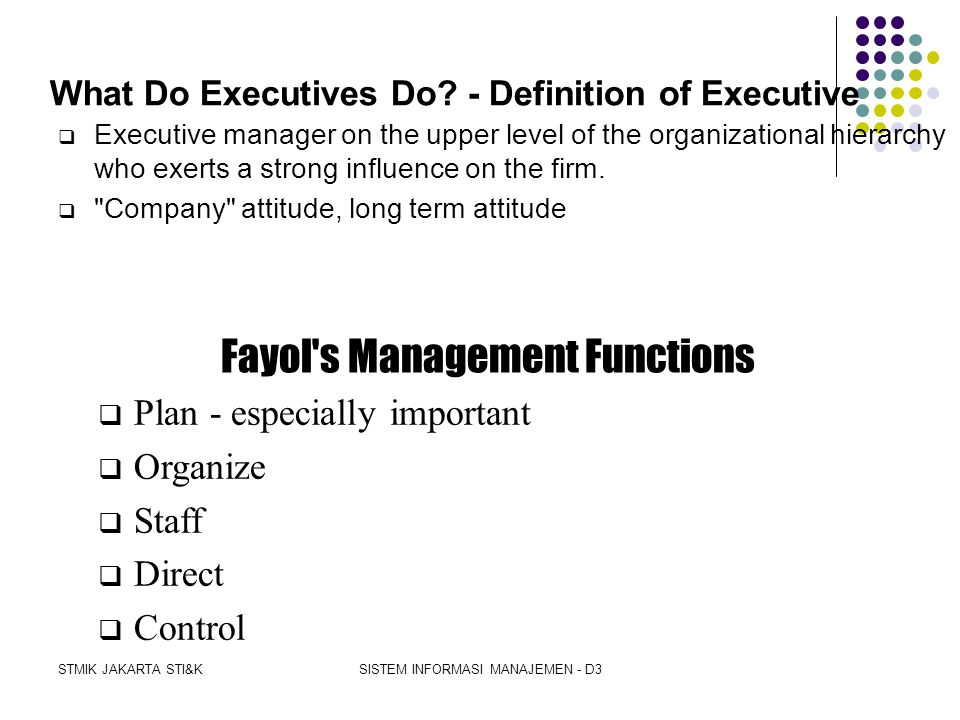What Do Executives Do - Definition of Executive