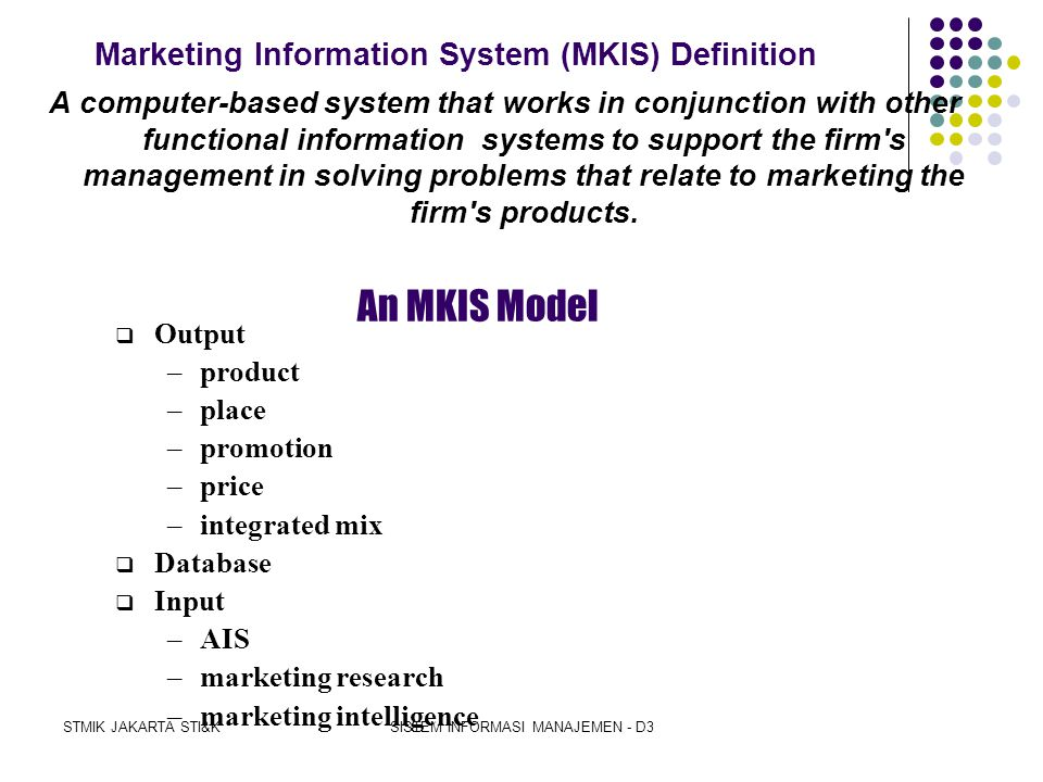 Marketing Information System (MKIS) Definition