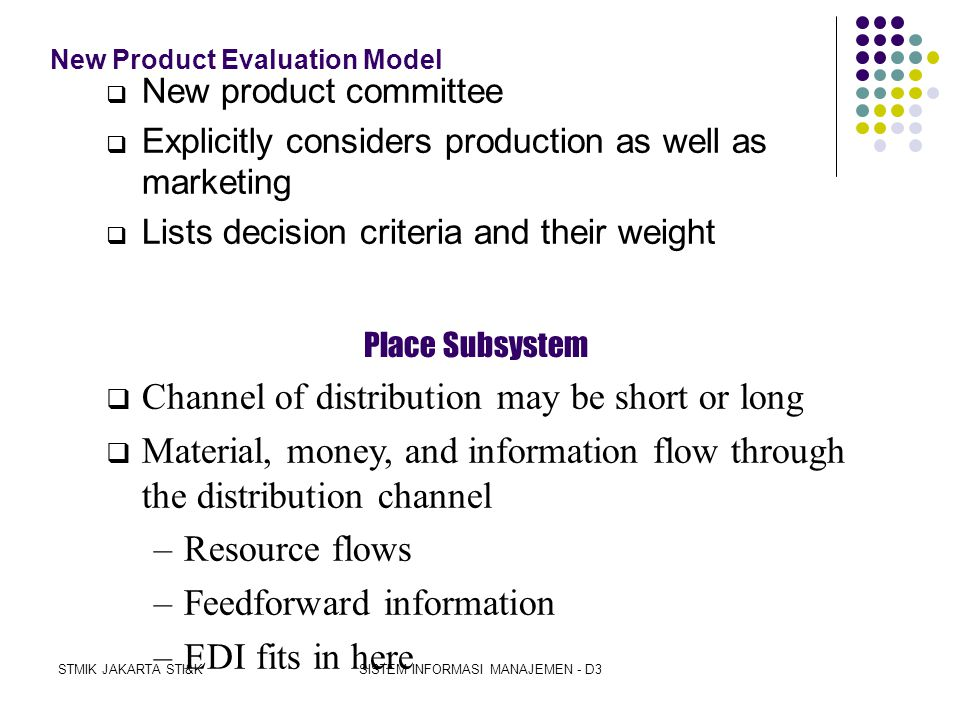 New Product Evaluation Model