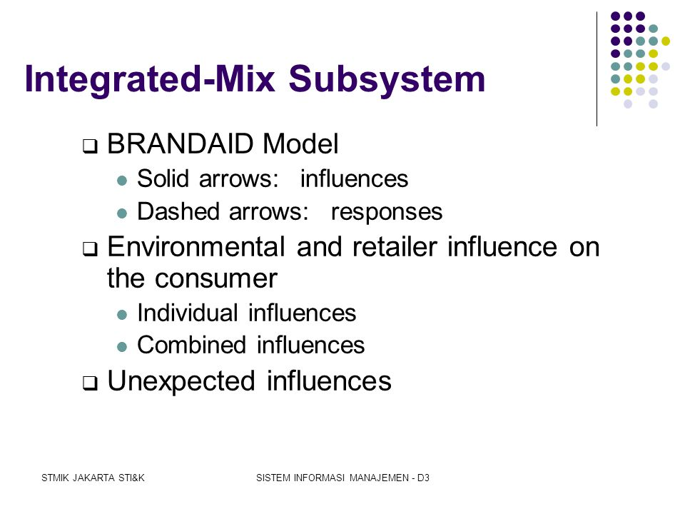 Integrated-Mix Subsystem