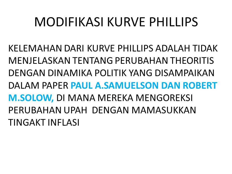 MODIFIKASI KURVE PHILLIPS