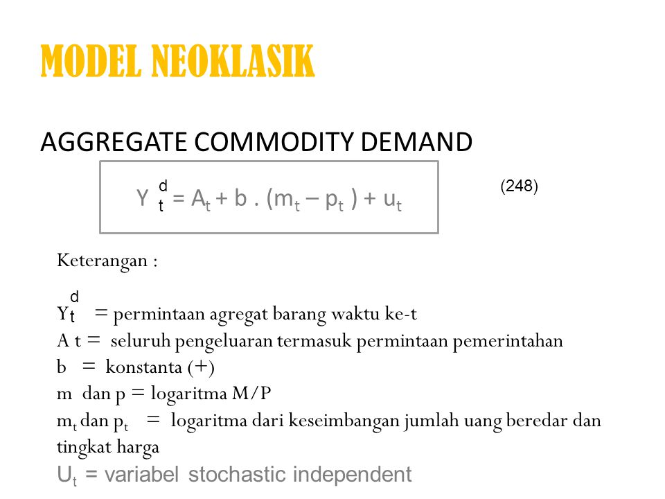 MODEL NEOKLASIK Aggregate Commodity Demand