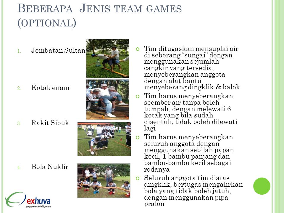 Beberapa Jenis team games (optional)