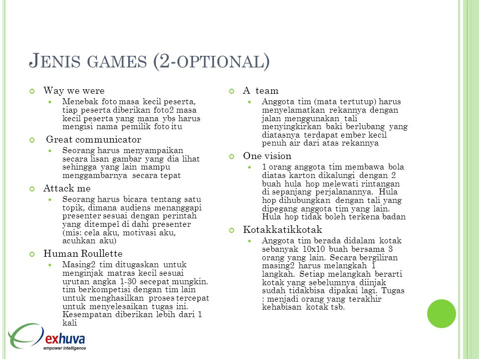 Jenis games (2-optional)