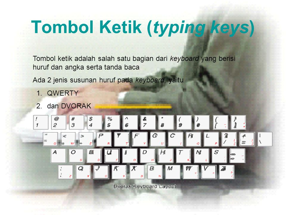Tombol Ketik (typing keys)