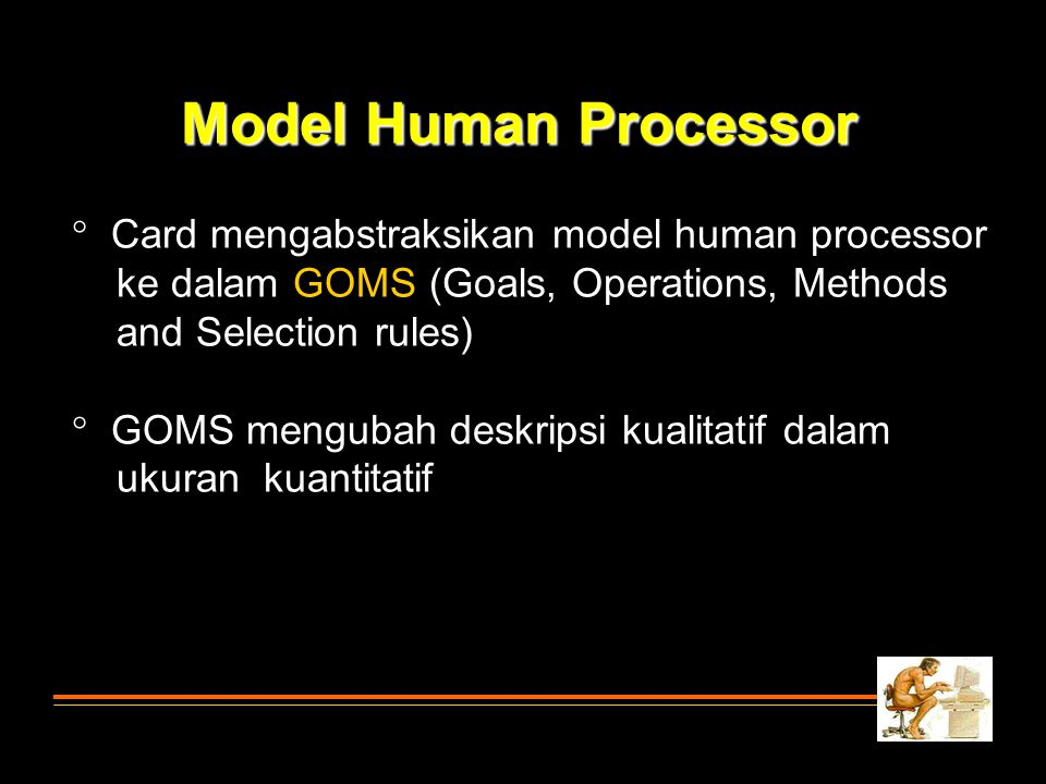 Model Human Processor Card mengabstraksikan model human processor