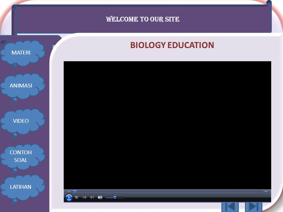 BIOLOGY EDUCATION WELCOME TO OUR SITE MATERI ANIMASI VIDEO CONTOH SOAL