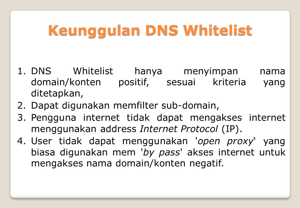 Keunggulan DNS Whitelist