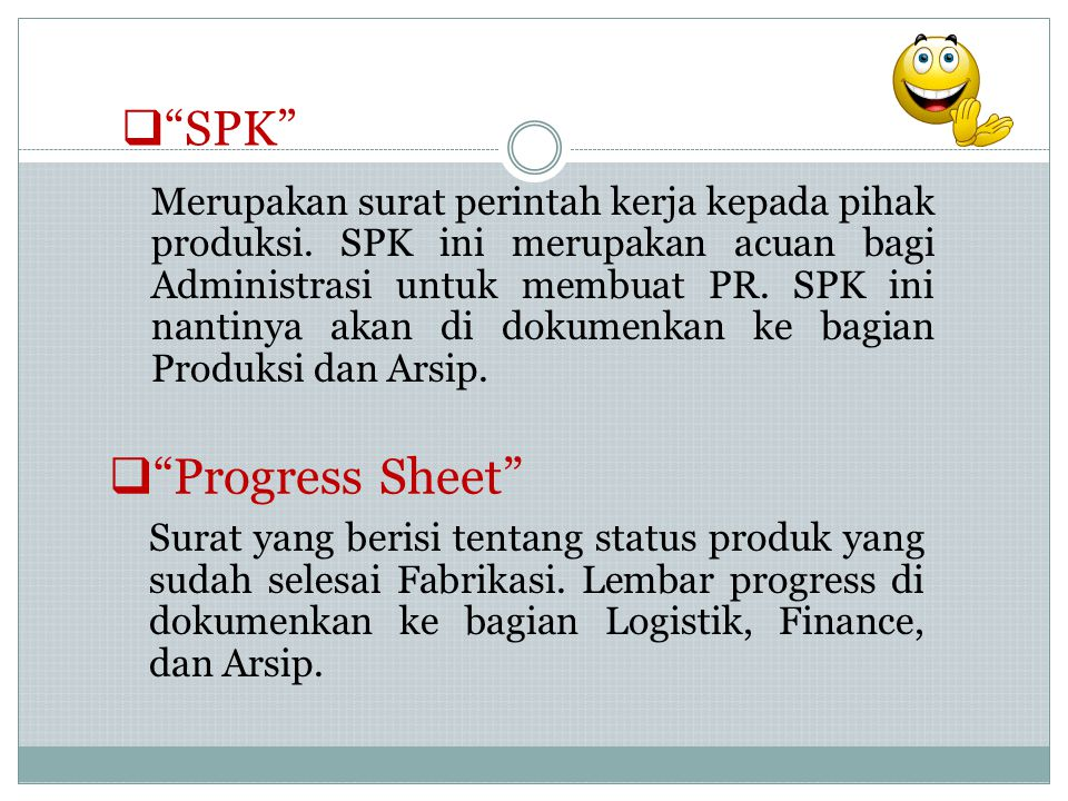 Progress Sheet SPK