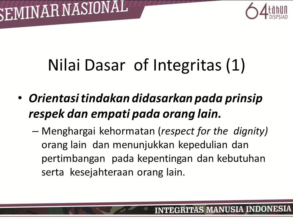 Nilai Dasar of Integritas (1)