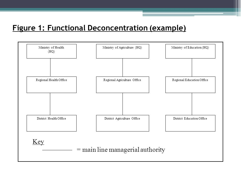 Figure 1: Functional Deconcentration (example)