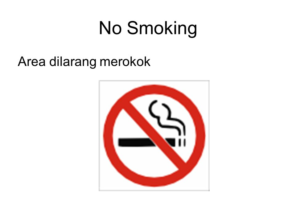 No Smoking Area dilarang merokok