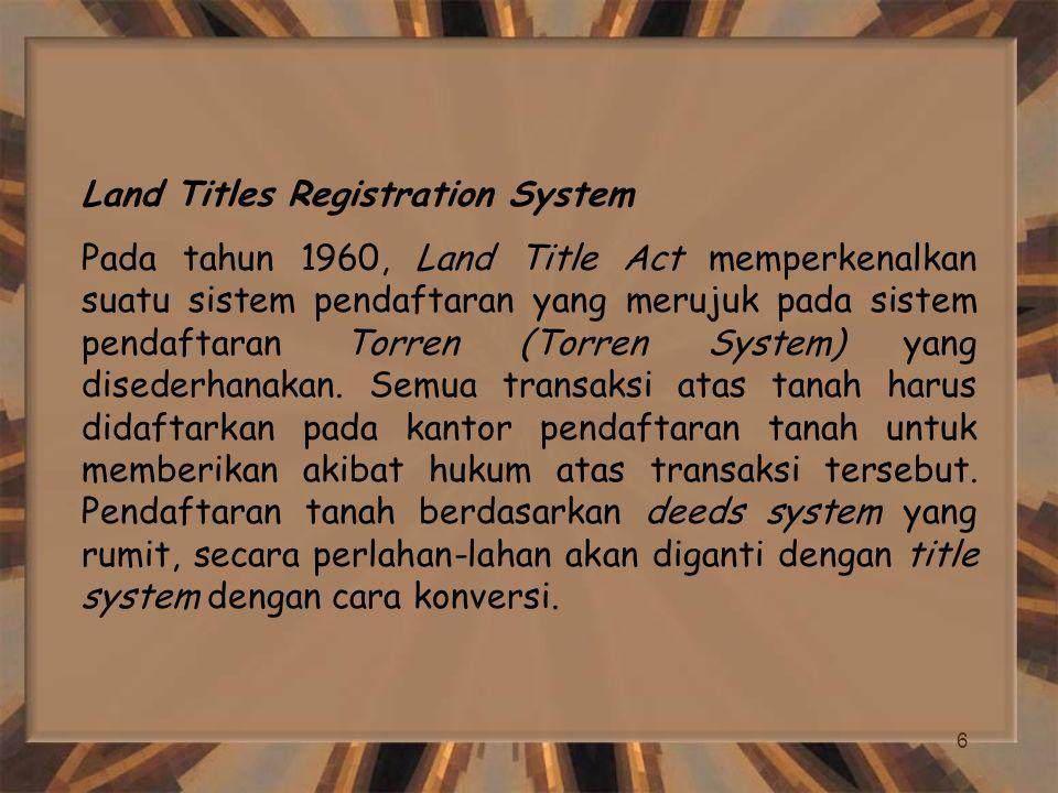 Land Titles Registration System