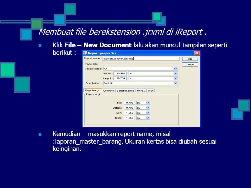 Membuat file berekstension .jrxml di iReport .