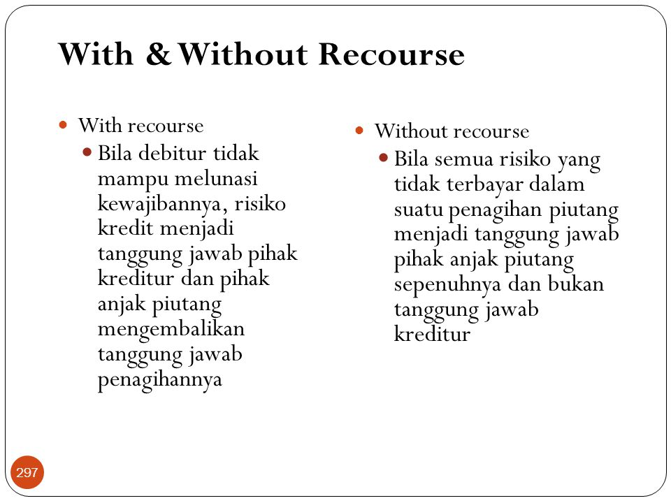 With & Without Recourse