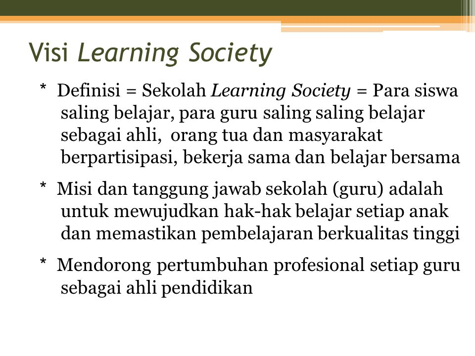 Visi Learning Society