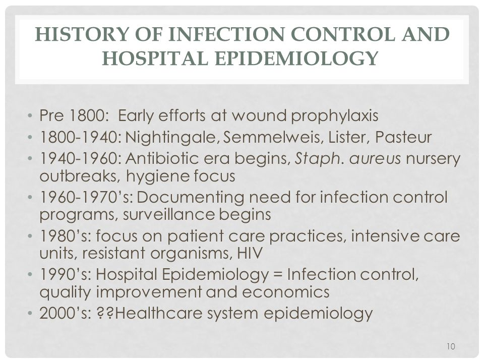 History of infection control and hospital epidemiology