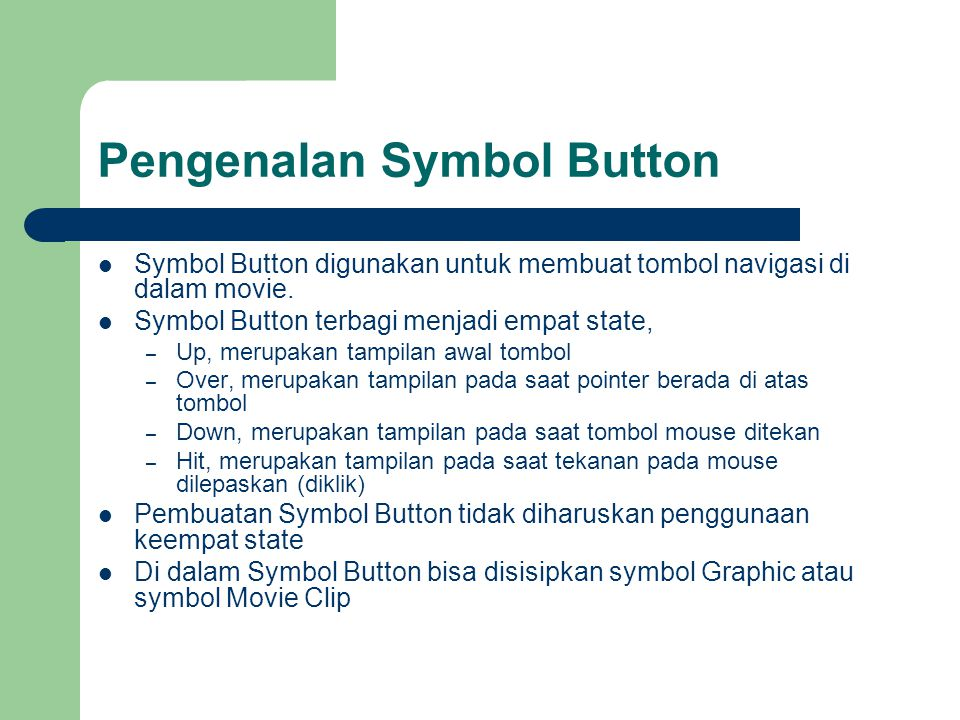 Pengenalan Symbol Button