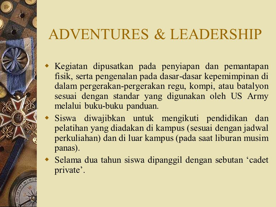 ADVENTURES & LEADERSHIP