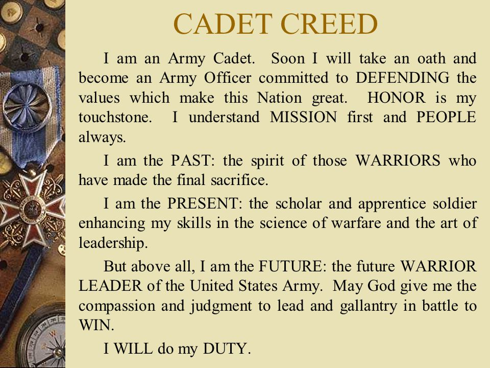 CADET CREED