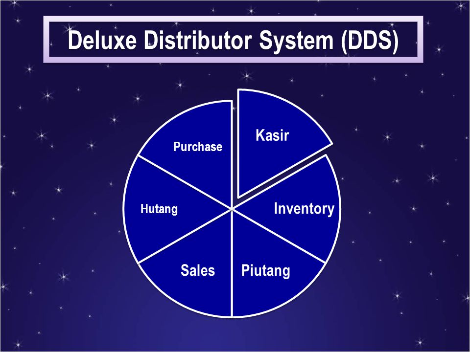 Deluxe Distributor System (DDS)