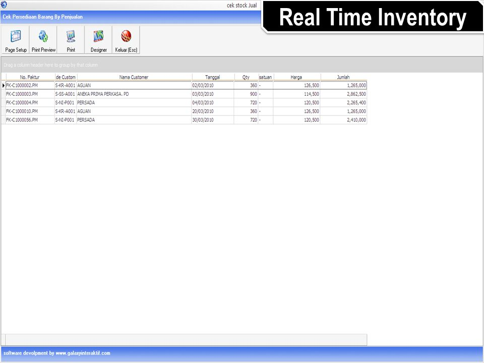 Real Time Inventory