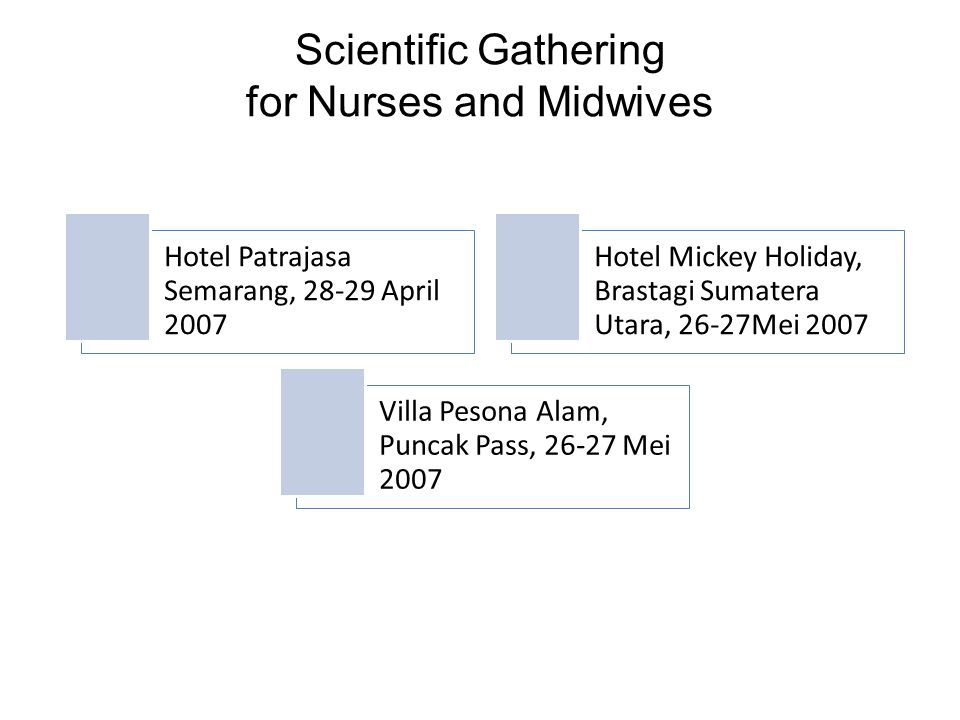 Scientific Gathering for Nurses and Midwives