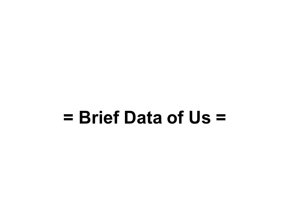 = Brief Data of Us =