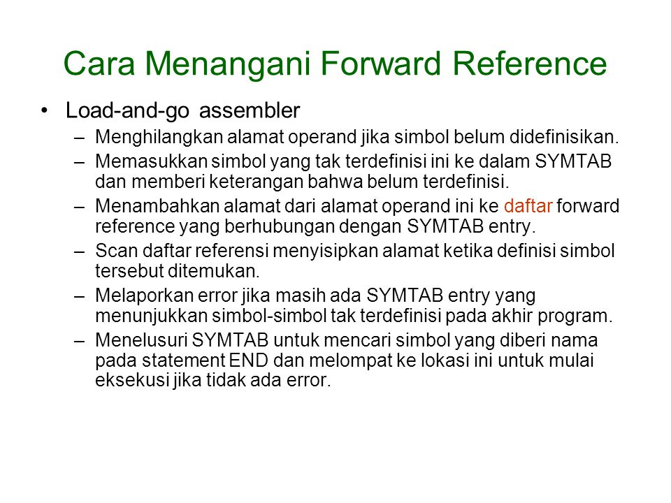 Cara Menangani Forward Reference