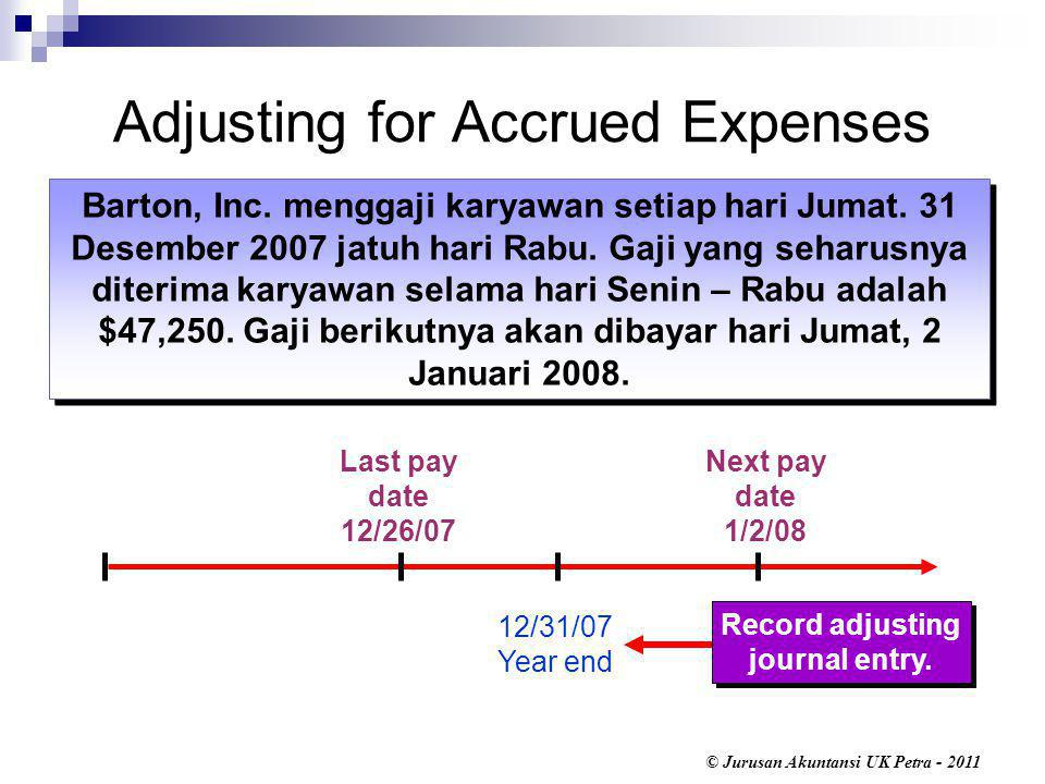Adjusting for Accrued Expenses