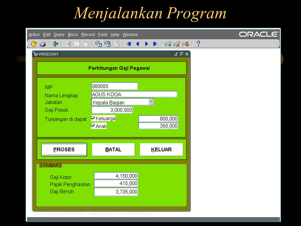 Menjalankan Program