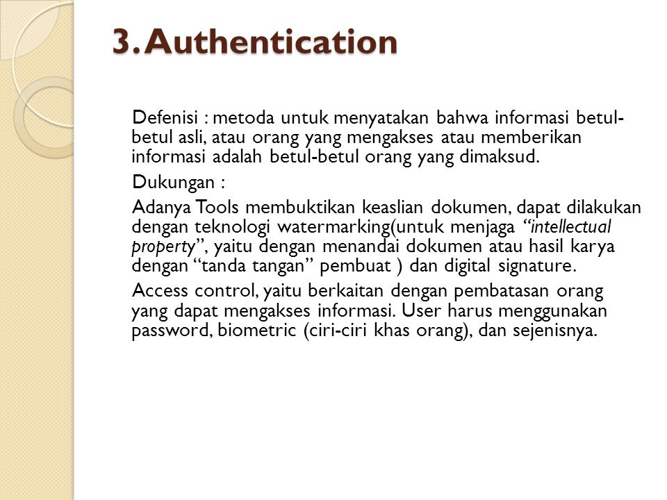 3. Authentication