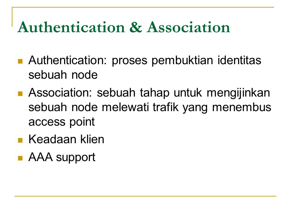 Authentication & Association