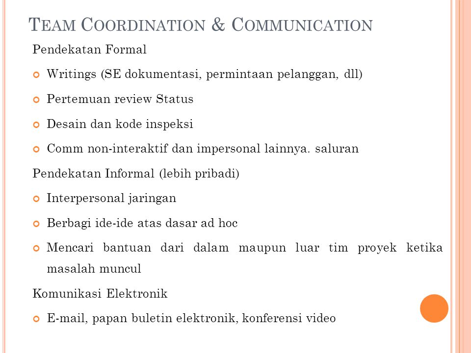 Team Coordination & Communication