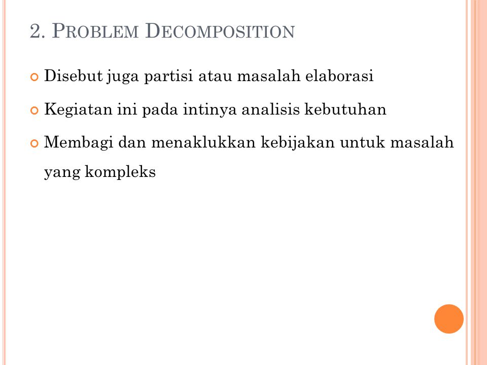 2. Problem Decomposition
