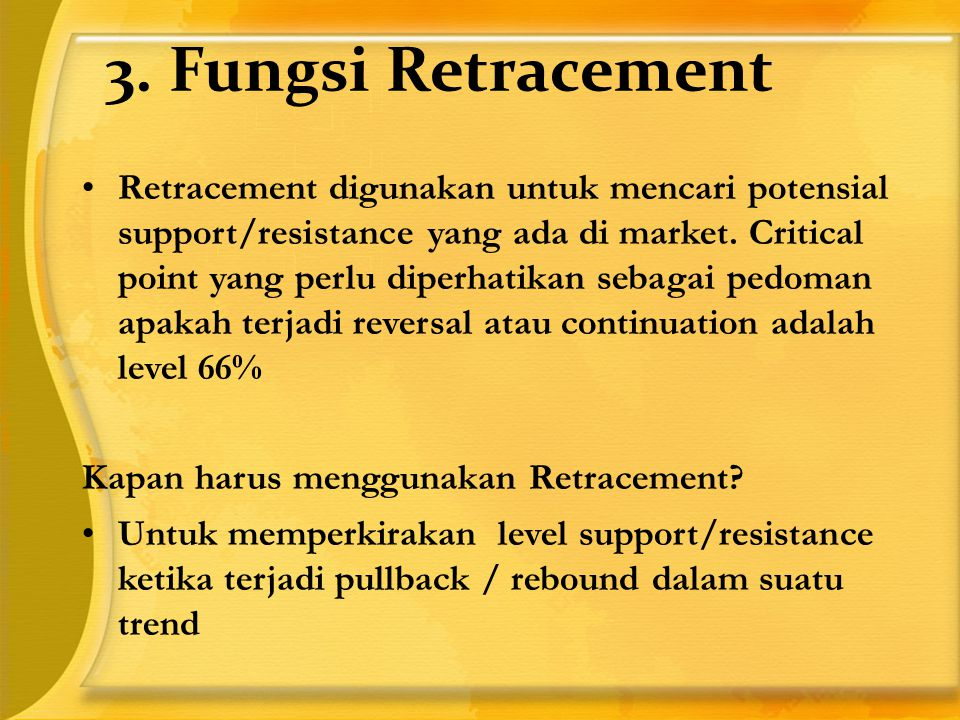 3. Fungsi Retracement