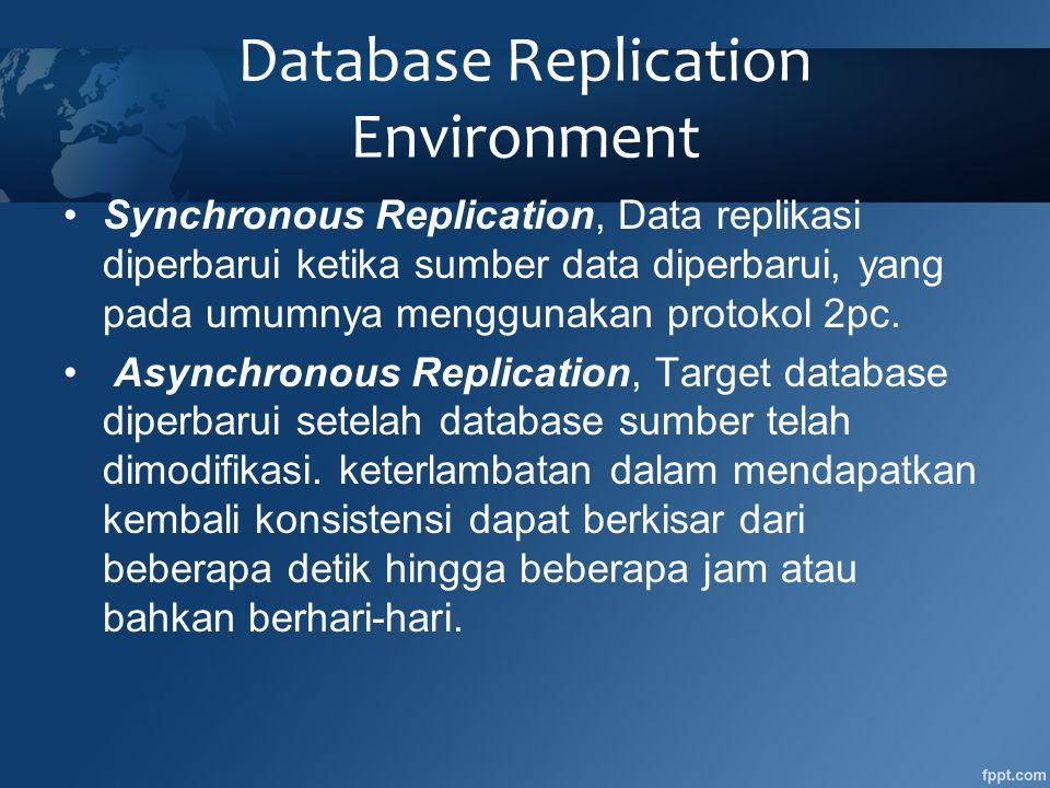 Database Replication Environment