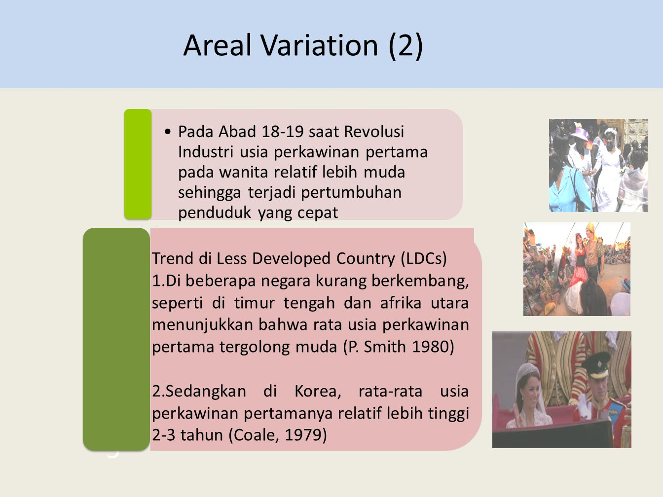 Areal Variation (2)