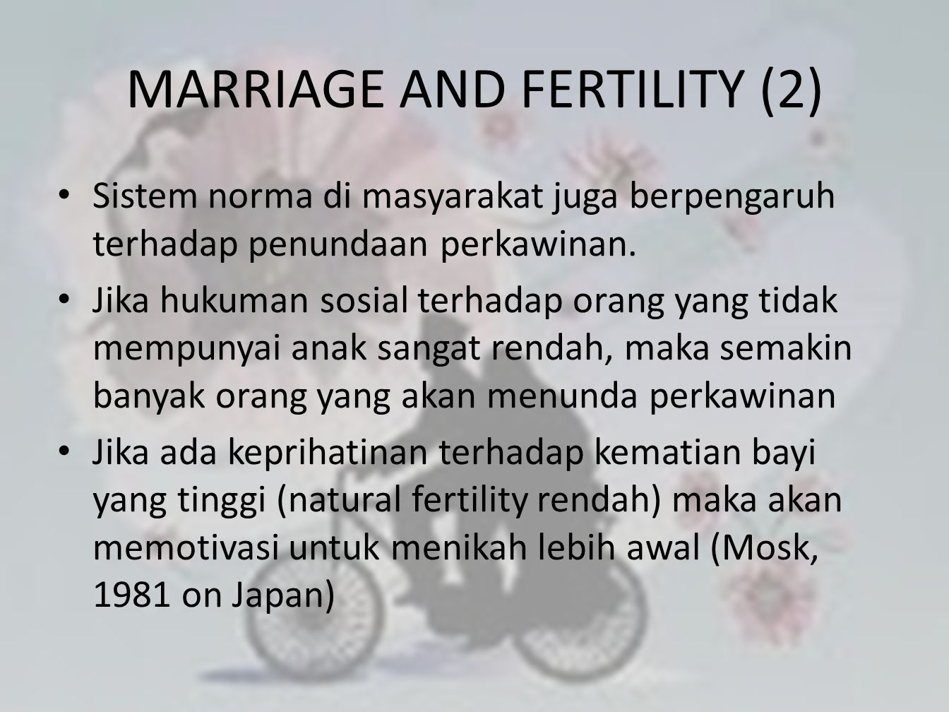 MARRIAGE AND FERTILITY (2)