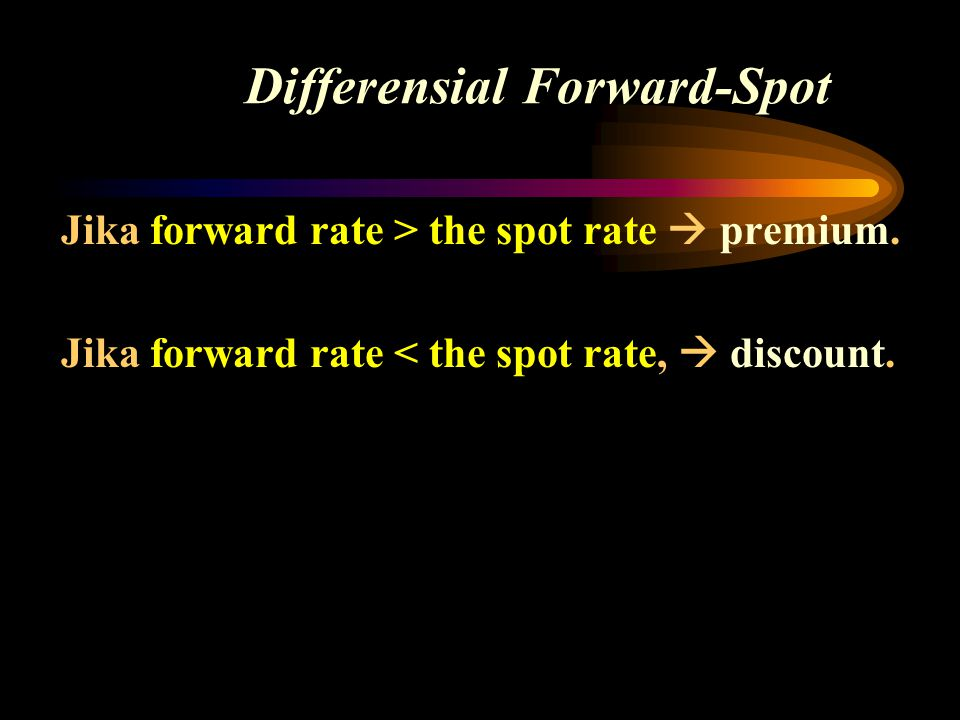 Differensial Forward-Spot