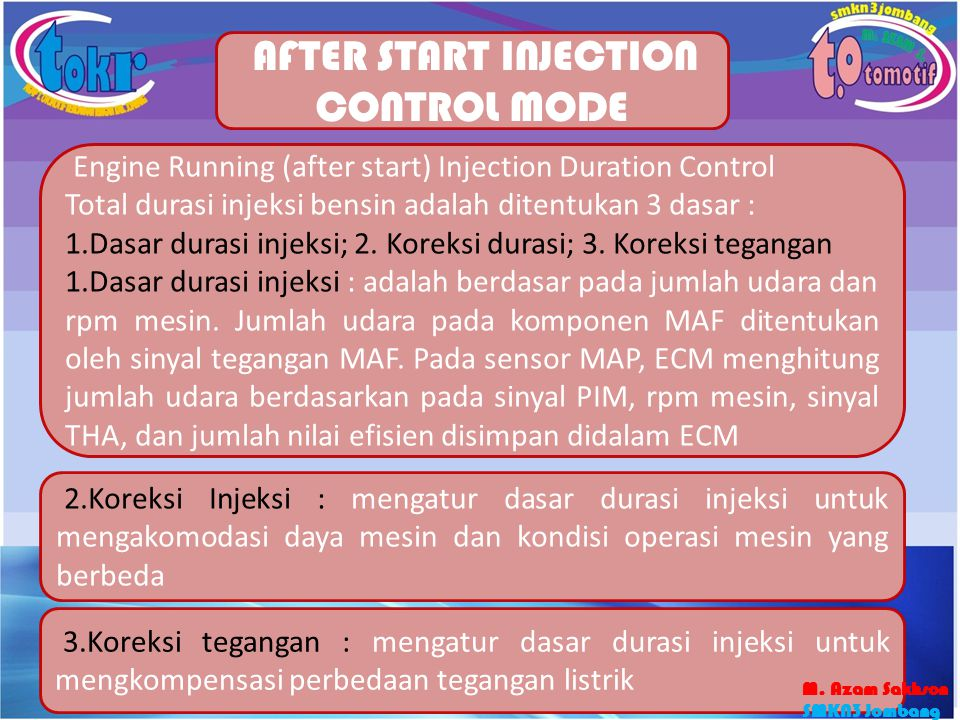AFTER START INJECTION CONTROL MODE