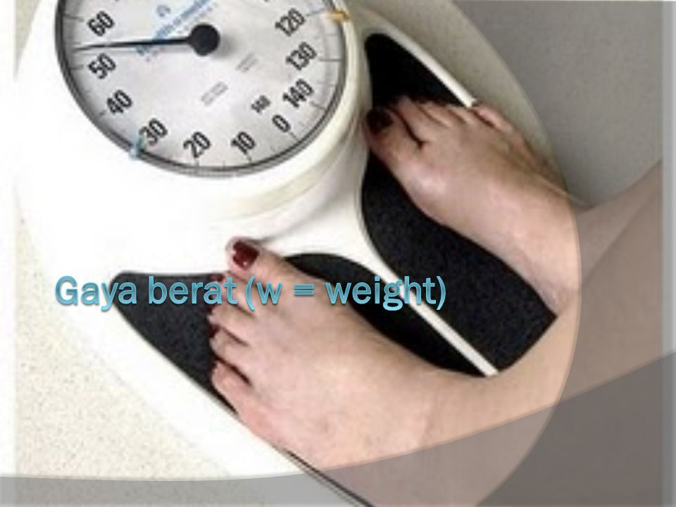 Gaya berat (w = weight)