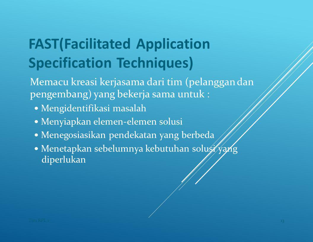 FAST(Facilitated Application Specification Techniques)