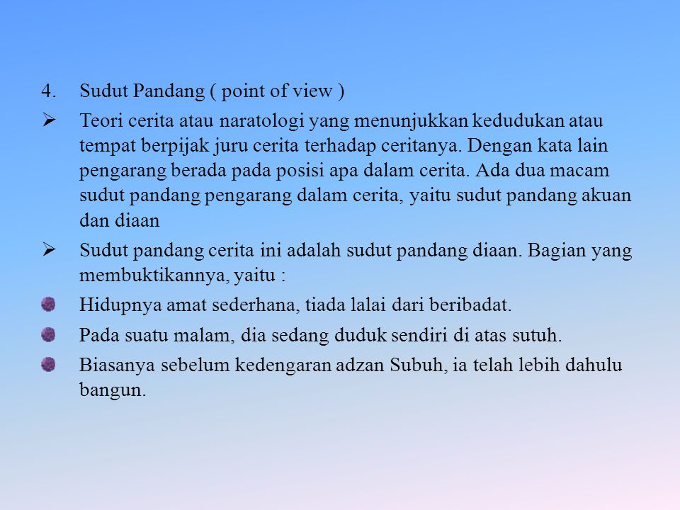 Sudut Pandang ( point of view )