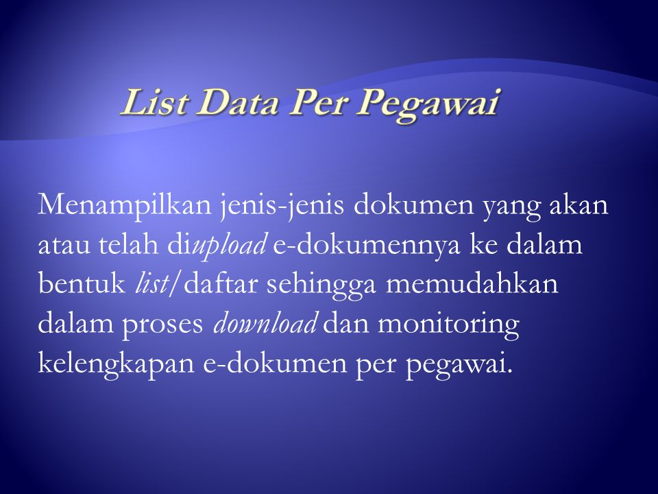 List Data Per Pegawai