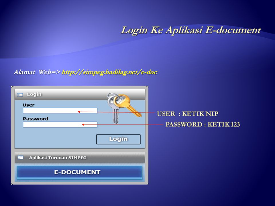 Login Ke Aplikasi E-document